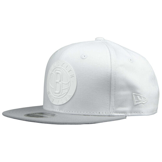 Team 9Fifty Rubber Brooklyn Nets Snapback, weiß / hellgrau, zoom bei OUTFITTER Online
