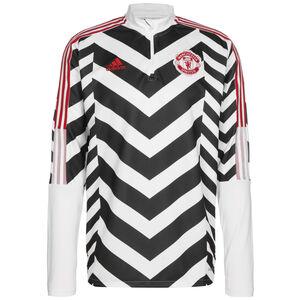 Manchester United AOP Longsleeve Herren, weiß / schwarz, zoom bei OUTFITTER Online