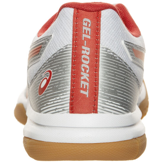 Gel-Rocket 9 Handballschuh Damen, weiß / rot, zoom bei OUTFITTER Online
