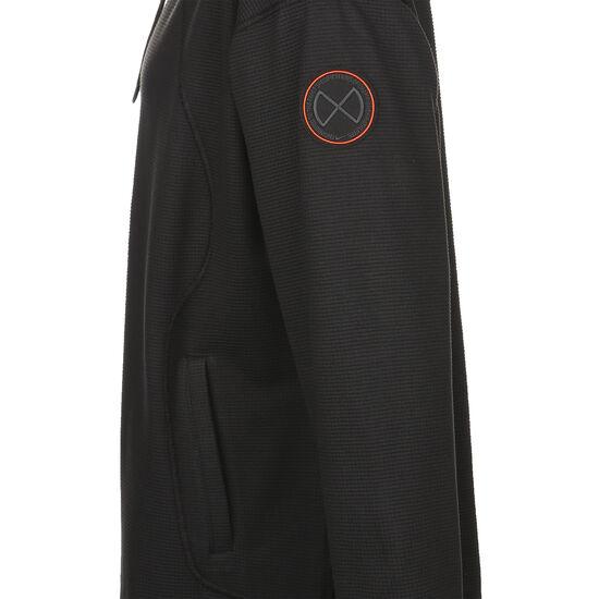 Fleece Trainingspullover Herren, schwarz / orange, zoom bei OUTFITTER Online