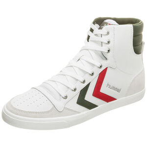 Slimmer Stadil Duo High Leather Sneaker, weiß / grün, zoom bei OUTFITTER Online