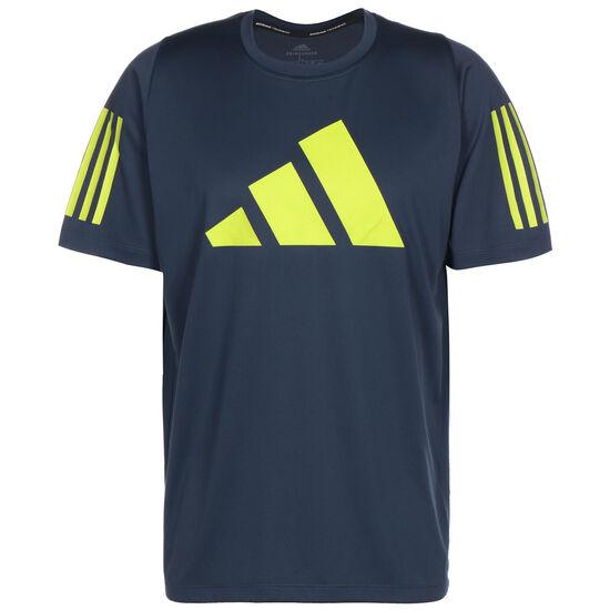 FreeLift 3-Streifen BAR Trainingsshirt Herren, dunkelblau / gelb, zoom bei OUTFITTER Online