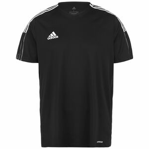 Tiro 21 Fußballtrikot Herren, schwarz / weiß, zoom bei OUTFITTER Online