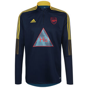 Arsenal London Human Race Trainingssweat Herren, dunkelblau / gelb, zoom bei OUTFITTER Online