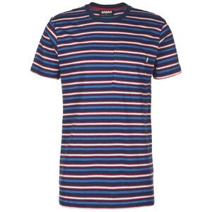 Fast Stripe Pocket T-Shirt Herren, dunkelblau / rot, zoom bei OUTFITTER Online