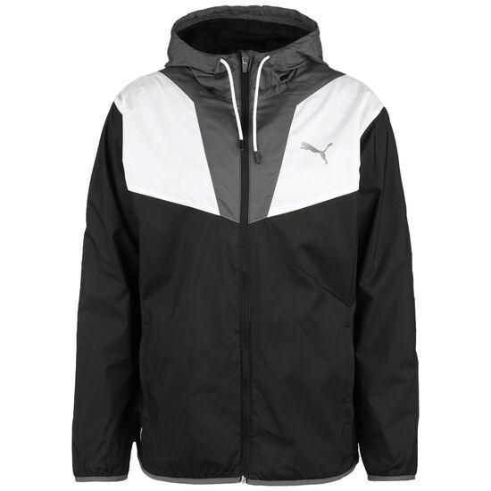 Reactive Woven Trainingsjacke Herren, schwarz / weiß, zoom bei OUTFITTER Online