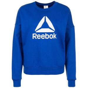 Workout Ready Big Logo Cover-Up Sweatshirt Damen, blau / weiß, zoom bei OUTFITTER Online