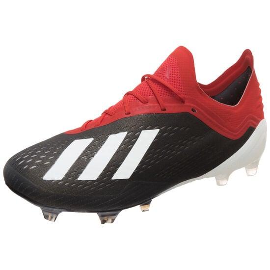 X 18.1 FG Fußballschuh Herren, schwarz / rot, zoom bei OUTFITTER Online