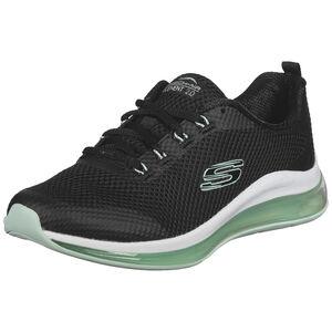 Mesh Lace Up Sneaker Damen, schwarz / mint, zoom bei OUTFITTER Online
