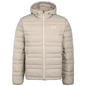 Down Hooded Winterjacke Herren, beige / weiß, zoom bei OUTFITTER Online