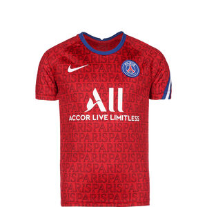 Paris St.-Germain Dry Trainingsshirt Kinder, rot / weiß, zoom bei OUTFITTER Online