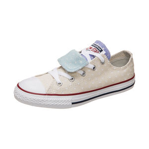 Chuck Taylor All Star Double Tongue OX Sneaker Kinder, Beige, zoom bei OUTFITTER Online