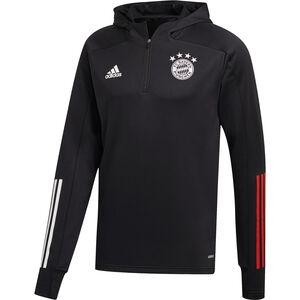 FC Bayern München Track Top Kapuzensweatshirt Herren, schwarz / rot, zoom bei OUTFITTER Online
