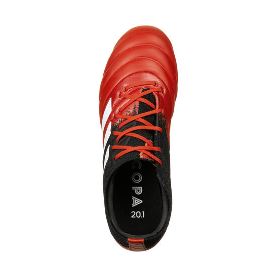Copa 20.1 FG Fußballschuh Kinder, rot / weiß, zoom bei OUTFITTER Online