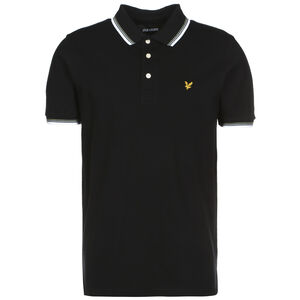 Tipped Poloshirt Herren, schwarz / weiß, zoom bei OUTFITTER Online