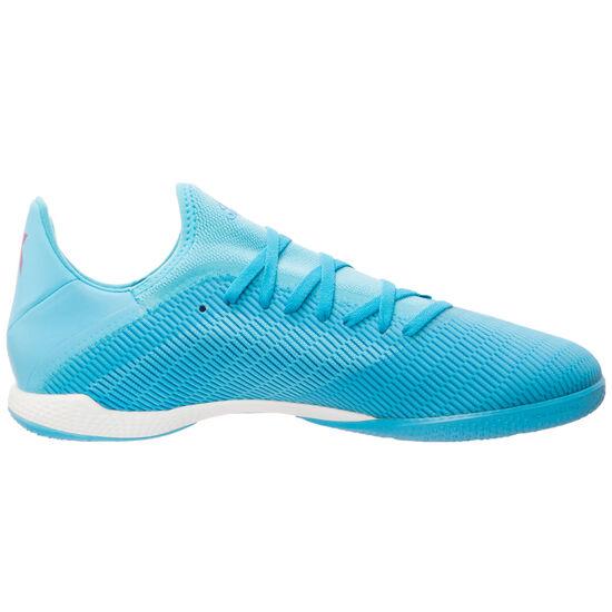 X 19.3 Indoor Fußballschuh Herren, hellblau / schwarz, zoom bei OUTFITTER Online