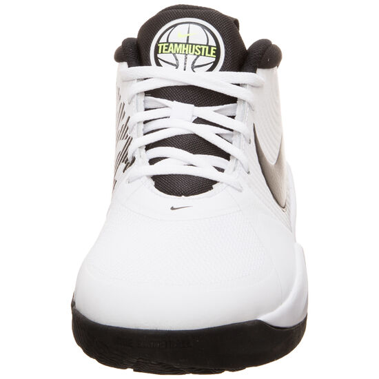 Team Hustle D 9 Basketballschuh Kinder, weiß / neongelb, zoom bei OUTFITTER Online