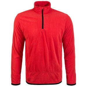 Fleece Team Trainingsshirt Herren, rot / schwarz, zoom bei OUTFITTER Online
