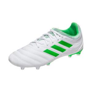 Copa 19.3 FG Fußballschuh Kinder, weiß / neongrün, zoom bei OUTFITTER Online
