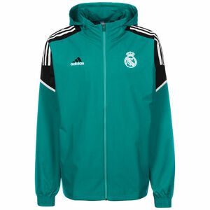 Real Madrid All Weather Jacke Herren, petrol / schwarz, zoom bei OUTFITTER Online