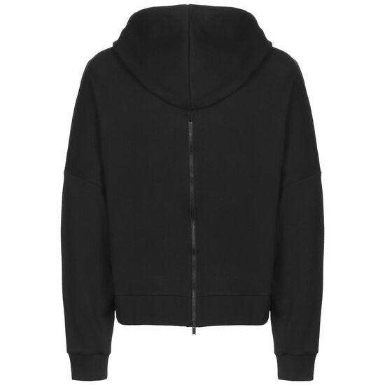 Back Zip Graphic Kapuzenpullover Damen, schwarz / weiß, zoom bei OUTFITTER Online