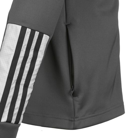 X Aeroready Football-Inspired Trainingsjacke Kinder, dunkelgrau, zoom bei OUTFITTER Online