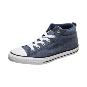 Chuck Taylor All Star Street Mid Sneaker Kinder, blau / weiß, zoom bei OUTFITTER Online