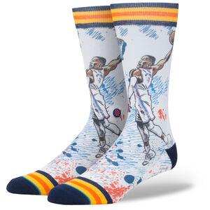 NBA Legends Graphic Russel Westbrook Socken, weiß / blau, zoom bei OUTFITTER Online