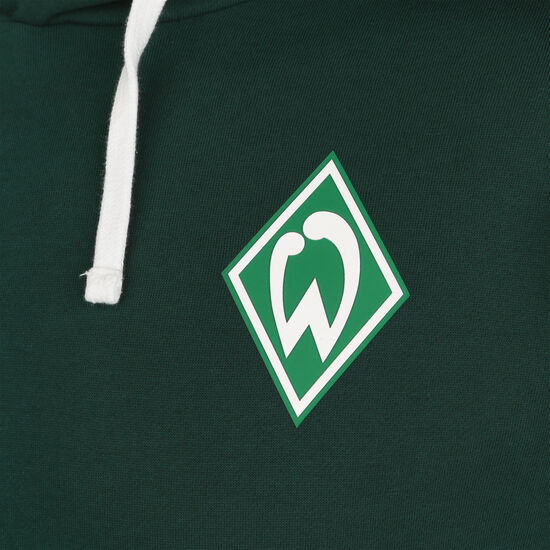 SV Werder Bremen Icon OH Kapuzenpullover Herren, dunkelgrün / weiß, zoom bei OUTFITTER Online