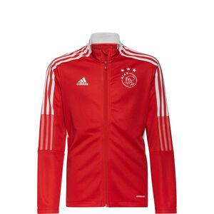 Ajax Amsterdam Trainingsjacke Kinder, rot / weiß, zoom bei OUTFITTER Online