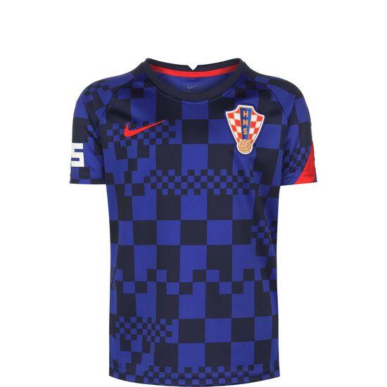 Kroatien Dry Trainingsshirt EM 2021 Kinder, blau / rot, zoom bei OUTFITTER Online