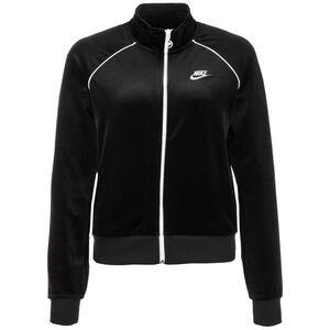 Velour Trainingsjacke Damen, schwarz / weiß, zoom bei OUTFITTER Online
