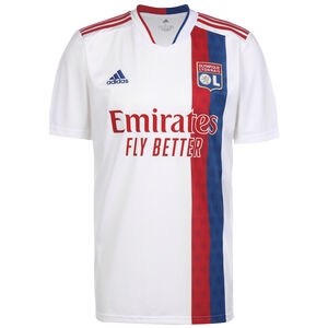 Olympique Lyon Trikot Home 2021/2022 Herren, weiß / rot, zoom bei OUTFITTER Online