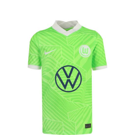 VfL Wolfsburg Trikot Home Stadium 2021/2022 Kinder, hellgrün / weiß, zoom bei OUTFITTER Online