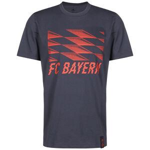 FC Bayern München Street Graphic T-Shirt Herren, dunkelblau / rot, zoom bei OUTFITTER Online