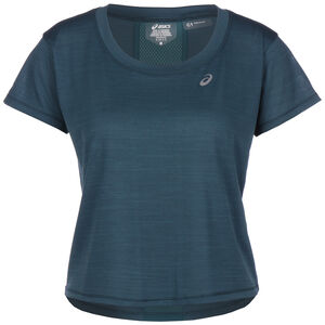 Race Crop Laufshirt Damen, dunkelblau / blau, zoom bei OUTFITTER Online