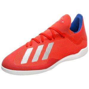X 18.3 Indoor Fußballschuh Herren, rot / silber, zoom bei OUTFITTER Online