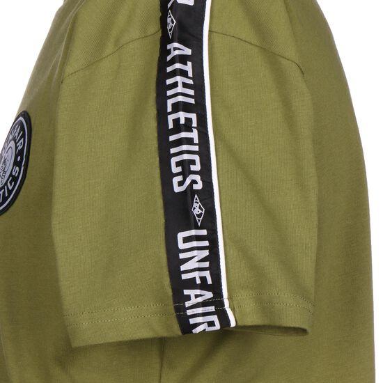 Hybrid Taped T-Shirt Herren, oliv / schwarz, zoom bei OUTFITTER Online