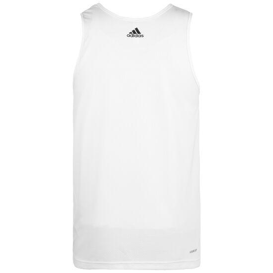 Sport 3-Stripes Basketballtank Herren, weiß / schwarz, zoom bei OUTFITTER Online