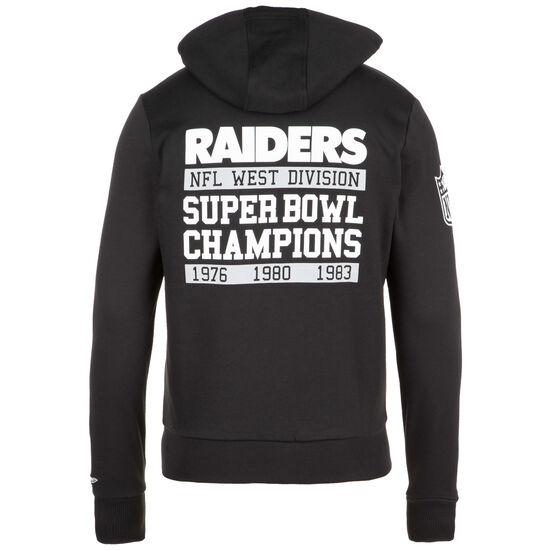 NFL Large Graphic Oakland Riders Kapuzensweatjacke Herren, schwarz / weiß, zoom bei OUTFITTER Online