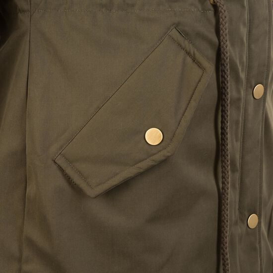 Peached Teddy Lined Parka Damen, oliv, zoom bei OUTFITTER Online