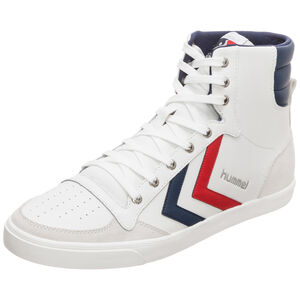 Slimmer Stadil Duo High Leather Sneaker, weiß / blau, zoom bei OUTFITTER Online