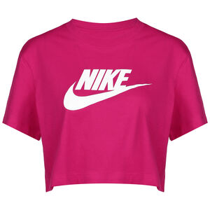 Essential Cropped T-Shirt Damen, pink / weiß, zoom bei OUTFITTER Online