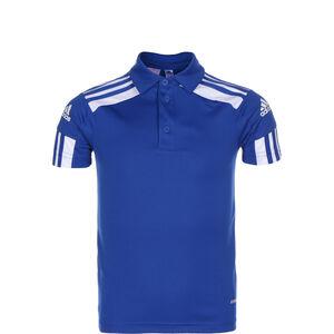Squadra 21 Poloshirt Kinder, blau / weiß, zoom bei OUTFITTER Online
