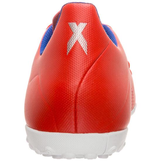 X 18.4 TF Fußballschuh Herren, rot / silber, zoom bei OUTFITTER Online