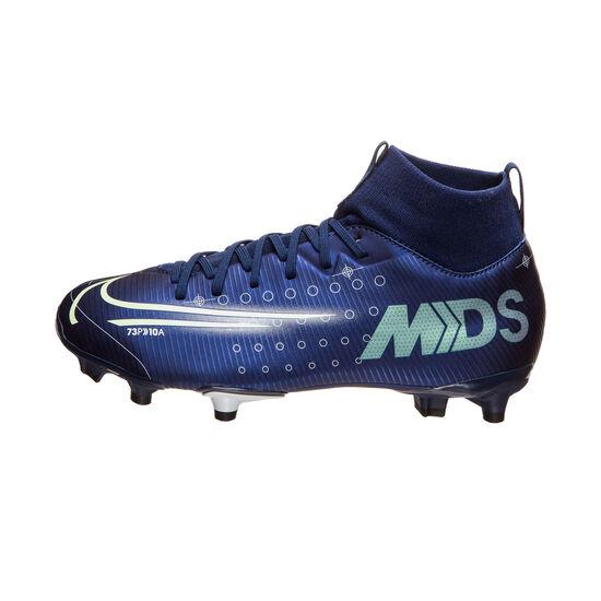 Mercurial Superfly 7 Academy MDS MG Fußballschuh Kinder, blau / gelb, zoom bei OUTFITTER Online