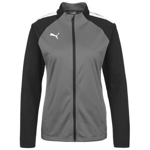 TeamLIGA Trainingsjacke Damen, grau / weiß, zoom bei OUTFITTER Online