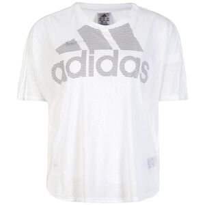 Magic Logo Trainingsshirt Damen, weiß / schwarz, zoom bei OUTFITTER Online