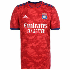 Olympique Lyon Trikot Away 2021/2022 Herren, rot / dunkelblau, zoom bei OUTFITTER Online