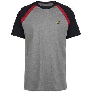 Three Panel Sleeve T-Shirt Herren, grau / rot, zoom bei OUTFITTER Online